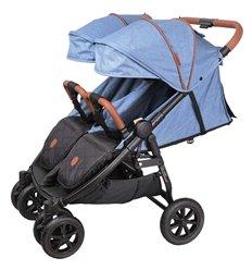 Прогулянкова коляска для двійні Coletto Enzo Twin Jeans