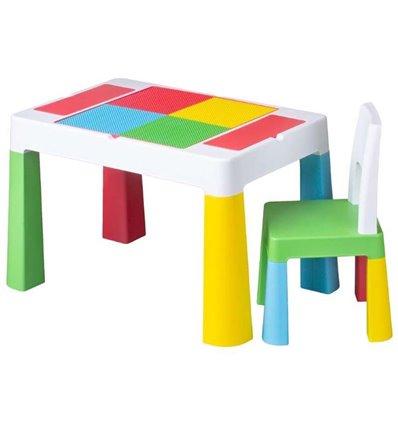 Дитячий столик зі стільчиком Tega Multifun різнокольоровий