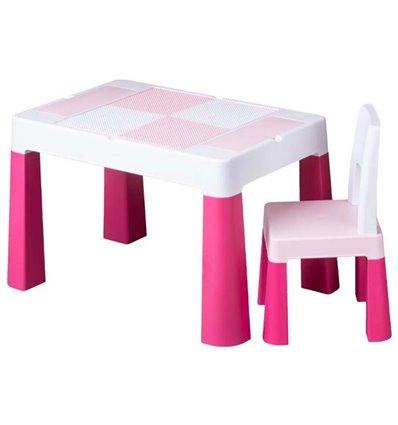 Дитячий столик зі стільчиком Tega Multifun рожевий