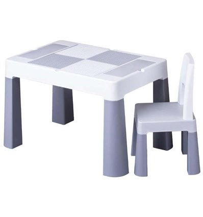 Дитячий столик зі стільчиком Tega Multifun сірий