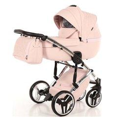Дитяча коляска 2 в 1 Tako Junama Enzo Go 02 рожева на срібній рамі