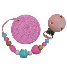Прорізувач для зубів Tiny World Бісквіт рожевий