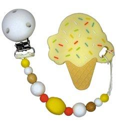 Прорізувач для зубів Tiny World Морозиво кремовий