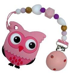 Прорізувач для зубів Tiny World Совеня рожевий