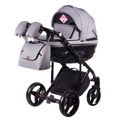 Дитяча коляска 2 в 1 Adamex Chantal С202 сіра
