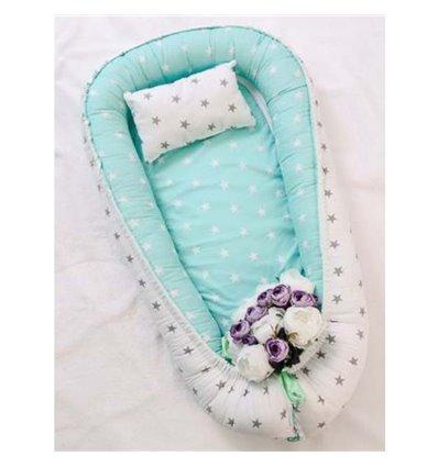 Кокон-гніздо Добрий Сон Baby Line 52х85см Мятно-білий