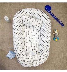 Кокон-гніздо Добрий Сон Baby Line 52х85см Стріли