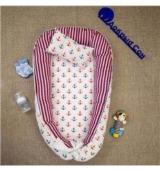 Кокон-гніздо Добрий Сон Baby Line 70х110см Морячок