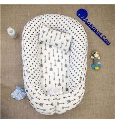 Кокон-гніздо Добрий Сон Baby Line 70х110см Стріли