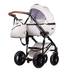 Дитяча коляска 2 в 1 Everflo Bliss E-1 біла еко шкіра