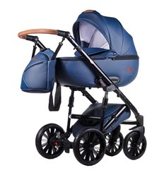 Дитяча коляска 2 в 1 Everflo Bliss E-13 темно синя еко шкіра
