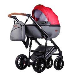 Дитяча коляска 2 в 1 Everflo Bliss E-50 червона з сірим еко шкіра