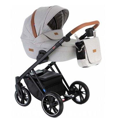 Дитяча коляска 2 в 1 Broco Up 01 світло сіра