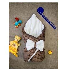 Конверт-плед Добрий Сон Minki 80х100см шоколадний
