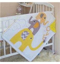 Плед Маленька Соня Арт дизайн 80х90см Жовті слоники