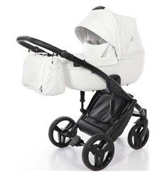 Дитяча коляска 2 в 1 Tako Junama Enzo 01 еко-шкіра біла