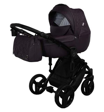 Дитяча коляска 2 в 1 Tako Junama Enzo 03 еко-шкіра фіолетова