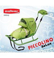 Санки Adbor Piccolino Delux зелені