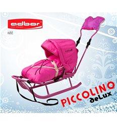 Санки Adbor Piccolino Delux розові