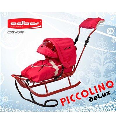 Санки Adbor Piccolino Delux червоні