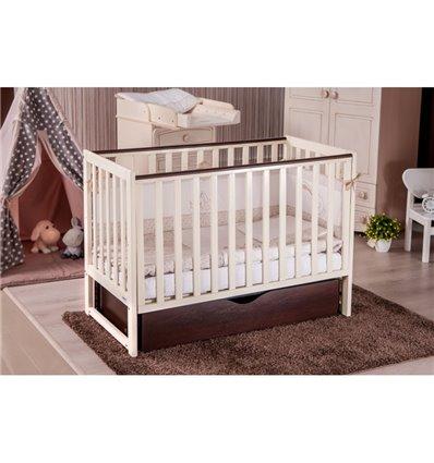 Дитяче ліжечко Twins Pinocchio слонова кістка/горіх