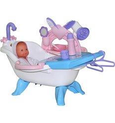 Набір для купання ляльок №1 з аксесуарами і пупсом Polesie 47243