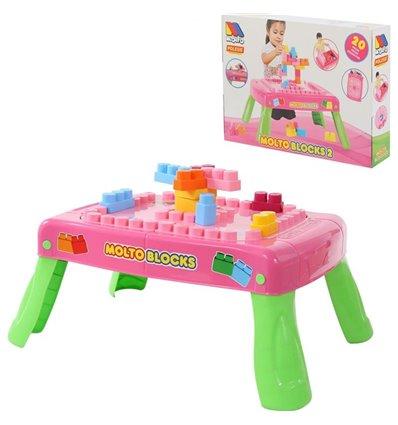 Набір ігровий з конструктором (20 елементів) рожевий Polesie 58010
