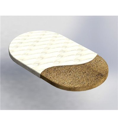 Матрац IngVart для ліжечок Lux Crib Кокос, 60x120 см 2025
