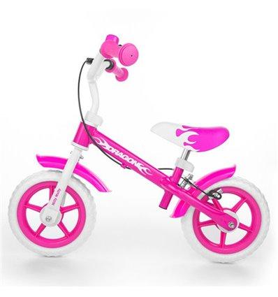 Біговел Milly Mally Dragon з гальмом рожевий