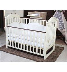 Дитяче ліжечко Twins iLove слонова кістка/горіх