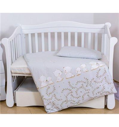 Дитяча змінна постіль Twins Eco Line E-015 Umka baby grey
