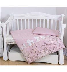 Дитяча змінна постіль Twins Eco Line E-016 Umka baby pink pastel