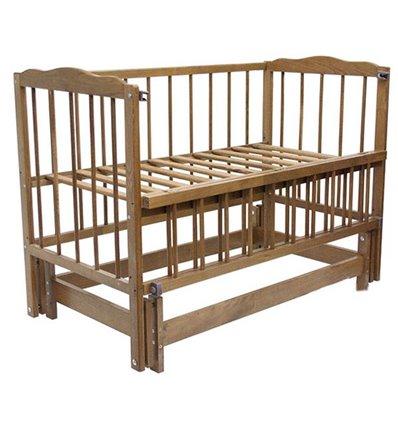 Дитяче ліжко Колисковий Світ Малятко без шухляди Горіх лісовий