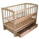Дитяче ліжко Колисковий Світ Малятко з шухлядою Натуральний