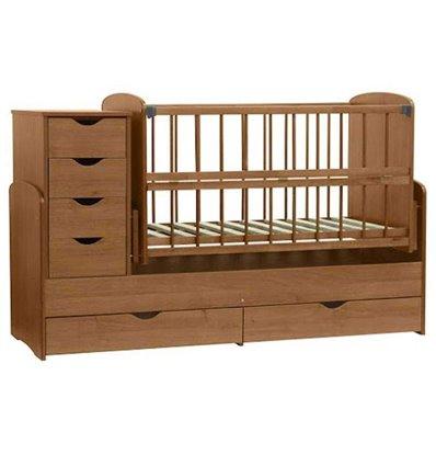 Дитяче ліжко-трансформер Колисковий світ Горіх лісовий