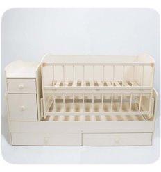 Дитяче ліжко-трансформер 2 Колисковий світ Слонова кістка