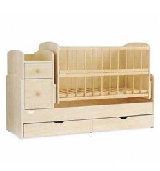 Дитяче ліжко-трансформер 2 Колисковий світ Натуральний