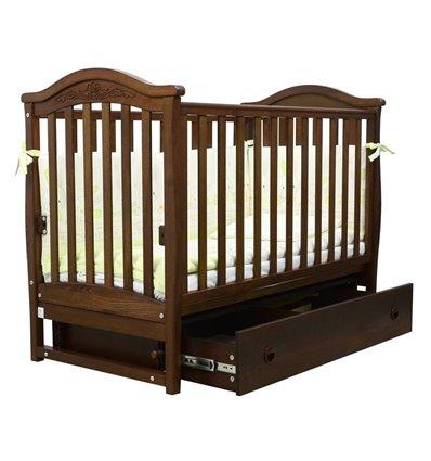 Дитяче ліжечко Верес ЛД3 з маятником і шухлядою горіх
