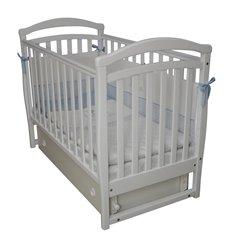 Дитяче ліжечко Верес ЛД6 з маятником і шухлядою біле
