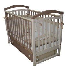 Дитяче ліжечко Верес ЛД6 з маятником і шухлядою капучіно