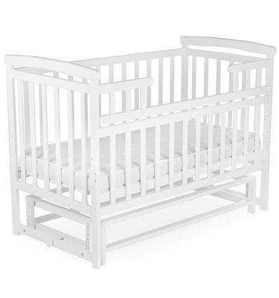 Ліжечко Дитячий Сон з маятником біле