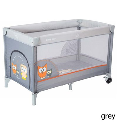 Манеж Alexis Baby Mix HR-8052 Sowa grey