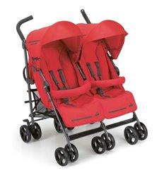 Прогулянкова коляска для двійні CAM Twin Flip 24 червона