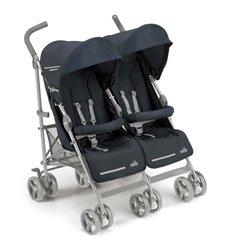 Прогулянкова коляска для двійні CAM Twin Flip 27 синя