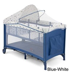 Манеж ліжечко Milly Mally Mirage Deluxe Blue-White
