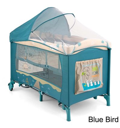 Манеж ліжечко Milly Mally Mirage Deluxe Blue Bird
