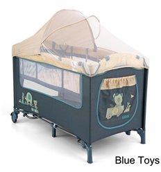 Манеж ліжечко Milly Mally Mirage Deluxe Blue Toys