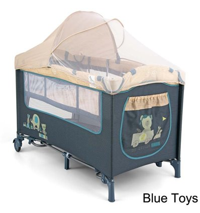 Манеж ліжечко Milly Mally Mirage Deluxe Blue Toys