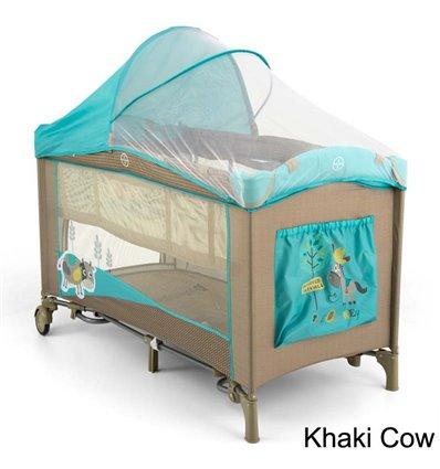 Манеж ліжечко Milly Mally Mirage Deluxe Khaki Cow
