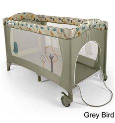 Манеж ліжечко Milly Mally Mirage Grey Bird